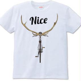NICE DEER(Tシャツwhite・ash)
