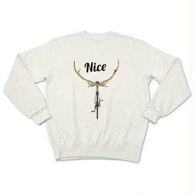 NICE DEER(sweat white)