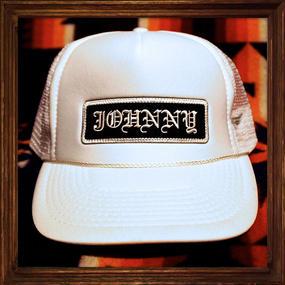 JOHNNY MESH CAP 【WHITE】ROUND VISER/CHOP