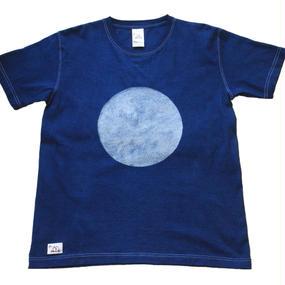 本藍バッセン(抜染) ○柄  手染めTシャツ