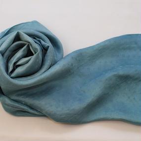藍生葉染め シルクストール大判