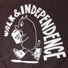 "w&i ""Just walking alone""  Long sleeve T-shirt  Black ※お支払いは銀行振込を選択して下さい。"