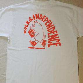Just walking  alone T-shirt  Orange on  White  ※ お支払いは銀行振込を選択して下さい
