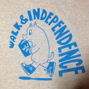 "w&i ""Just walking alone"" Long sleeve T-shirt  Gray ※お支払いは銀行振込を選択して下さい。"
