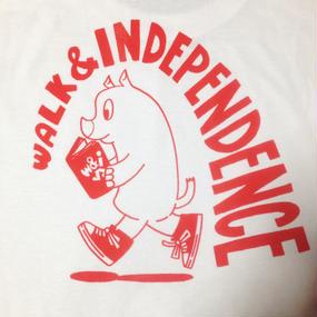 "w&i ""Just walking alone""  Long sleeve T-shirt  White ※お支払いは銀行振込を選択して下さい。"