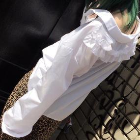 EA0187 フリルシャツ【ホワイト】