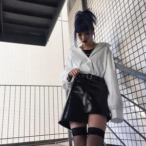 EA5127 ベルト付ミニスカート