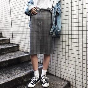 EA5133 チェックタイトスカート
