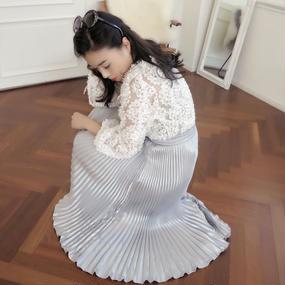 ドレスアップマジックプリーツスカート【シルバー】