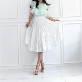 シルキータッチサマースカート【ホワイト】