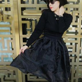 エレガント×ナチュラル魅せる2WAYドレス(ブラック)【身長アラウンド160cmオススメ!トップス×ワンなーワンピースセット】