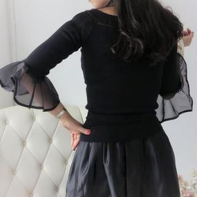 ドレスフリルトップスSEASON3【ブラック】