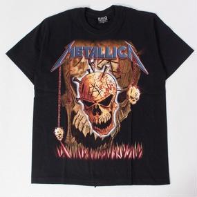 ロックTシャツ METALLICA メタリカ ドクロ 0125