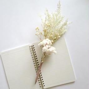 花ペン(ホワイト)
