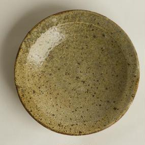 ヒビ粉引 5寸皿 / 馬渡 新平 [ 陶 ]