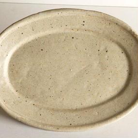楕円 皿 (大) / 及川 静香 [ 陶 ] 021515_001