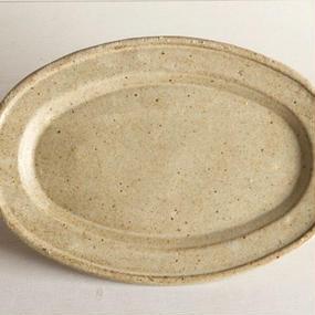 楕円 皿 (小) / 及川 静香 [ 陶 ] 021515_006