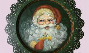 ハンドペイントのクリスマス作品