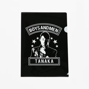 BOYS AND MEN クリアファイル TANAKA