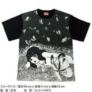 蝶の墓シリーズ グラフィックビッグTシャツ A 【楳図かずお】
