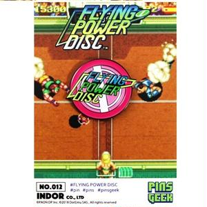PINS GEEK FLYING POWER DISC【データイースト】