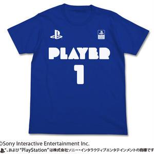 """プレイヤー1Tシャツ """"PlayStation"""" /  ROYAL BLUE"""