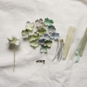 手染め・紫陽花のコサージュキット・オリジナルカラー