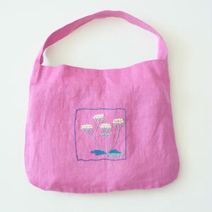 linen embroidery bag/micä