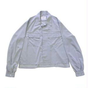 NuGgETS / Open-necked Shirt #Ice gray