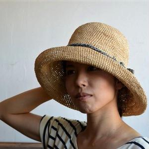 ラフィアの帽子 Babaghuri (リボン細)