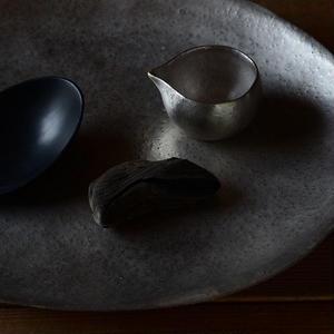 銀彩オーバル皿 Babaghuri