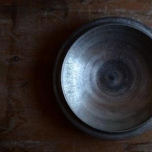 船串篤司さん 浅い鉢18 銀彩