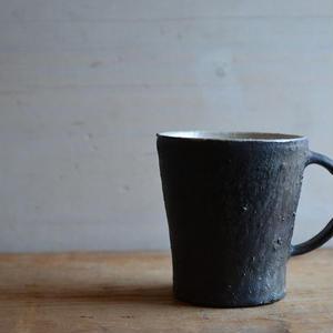境 道一さん  黒釉 マグカップ