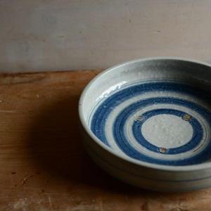 沼田智也さん 染付 6寸銅鑼鉢