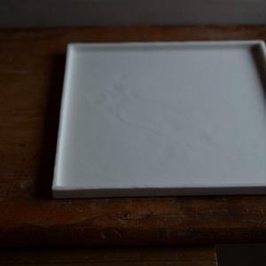 白石陽一さん 正角皿(A)