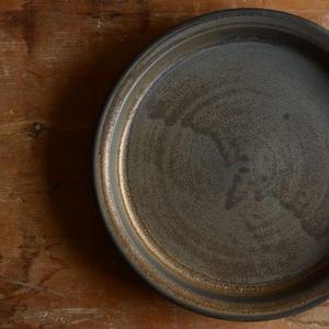 加藤かずみさん 7寸皿 ブラック