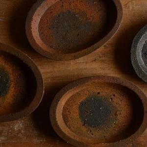 境 知子さん  やきしめ オーバル豆皿
