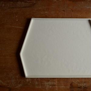 白石陽一さん 変形皿(白磁)