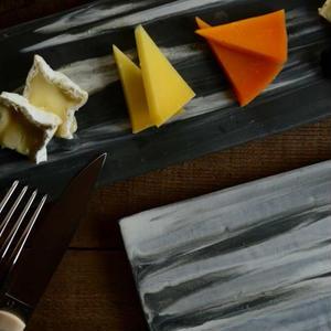 【5月30日以降発送】kei condoさん オリジナルチーズプレート レクタングル Marbleとチーズのセット