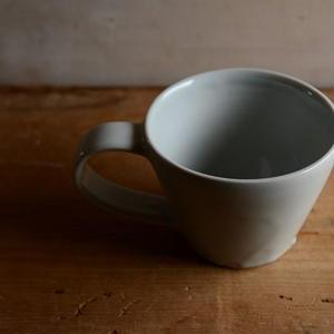 壷田亜矢さん  白磁コーヒーカップ