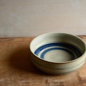 沼田智也さん 染付 5寸銅鑼鉢