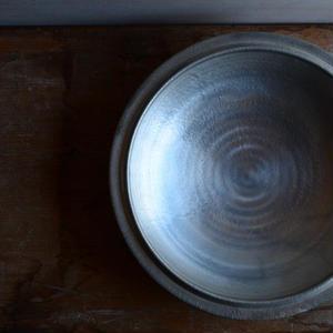 船串篤司さん 浅い鉢21 銀彩