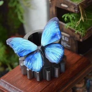 蝶のマグネット メネラウスモルフォ  Turquoise  Ssize