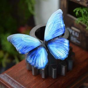 蝶のマグネット メネラウスモルフォ Aqua  Ssize