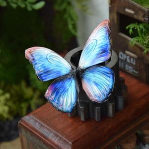 蝶のマグネット メネラウスモルフォ Hydrangea blue Msize