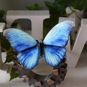 蝶のマグネット メネラウスモルフォ  aqua Lsize