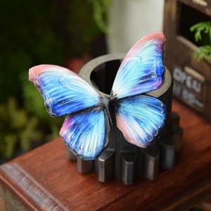 蝶のマグネット メネラウスモルフォ Hydrangea blue  Ssize