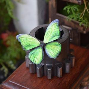 蝶のマグネット メネラウスモルフォ Peridot 2Ssize