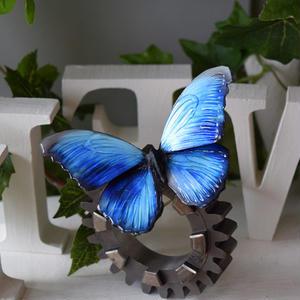 蝶のマグネット メネラウスモルフォ  blue Lsize