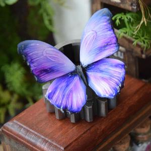 蝶のマグネット メネラウスモルフォ lavender Msize